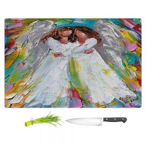 Artistic Kitchen Bar Cutting Boards | Karen Tarlton - Angel Hugs | spiritual heaven abstract painterly