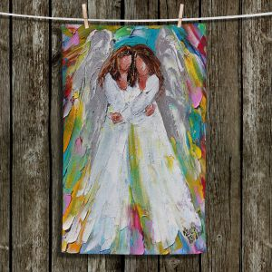 Unique Hanging Tea Towels | Karen Tarlton - Angel Hugs | spiritual heaven abstract painterly
