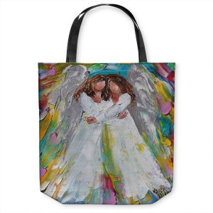 Unique Shoulder Bag Tote Bags | Karen Tarlton - Angel Hugs | spiritual heaven abstract painterly