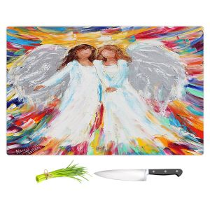 Artistic Kitchen Bar Cutting Boards | Karen Tarlton - Angels | Religion Religious Heaven