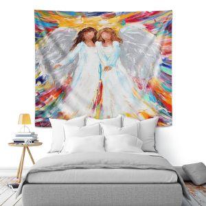 Artistic Wall Tapestry   Karen Tarlton - Angels   Religion Religious Heaven