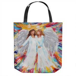 Unique Shoulder Bag Tote Bags | Karen Tarlton - Angels | Religion Religious Heaven