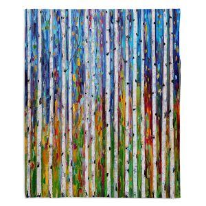 Decorative Fleece Throw Blankets | Karen Tarlton - Autumn Birch Tree