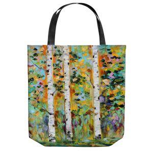 Unique Shoulder Bag Tote Bags | Karen Tarlton - Autumn Birch Trees 3 | Birch trees landscape