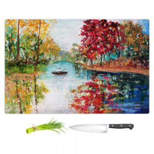 Artistic Kitchen Bar Cutting Boards | Karen Tarlton - Autumn Early Morning Serenity