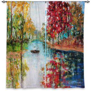 Decorative Window Treatments | Karen Tarlton - Autumn Early Morning Serenity
