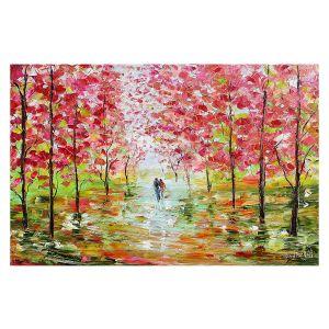 Decorative Floor Covering Mats | Karen Tarlton - Autumn Spring Romance | Forest Trees Park
