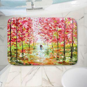 Decorative Bathroom Mats | Karen Tarlton - Autumn Spring Romance | Forest Trees Park