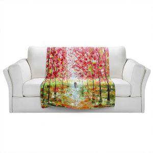Artistic Sherpa Pile Blankets   Karen Tarlton - Autumn Spring Romance   Forest Trees Park