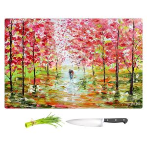 Artistic Kitchen Bar Cutting Boards | Karen Tarlton - Autumn Spring Romance | Forest Trees Park