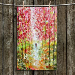 Unique Hanging Tea Towels | Karen Tarlton - Autumn Spring Romance | Forest Trees Park
