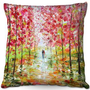 Throw Pillows Decorative Artistic   Karen Tarlton - Autumn Spring Romance   Forest Trees Park