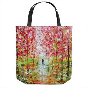 Unique Shoulder Bag Tote Bags | Karen Tarlton - Autumn Spring Romance | Forest Trees Park
