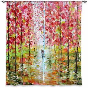 Decorative Window Treatments | Karen Tarlton - Autumn Spring Romance | Forest Trees Park