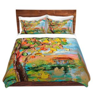 Artistic Duvet Covers and Shams Bedding | Karen Tarlton - Autumn Sunset