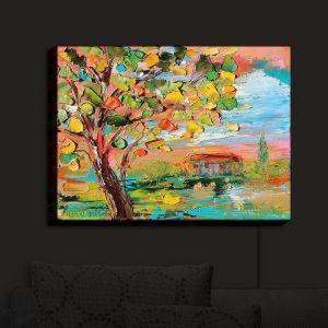 Nightlight Sconce Canvas Light   Karen Tarlton - Autumn Sunset   Nature Trees
