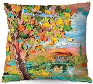 Decorative Outdoor Patio Pillow Cushion   Karen Tarlton - Autumn Sunset