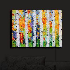 Nightlight Sconce Canvas Light   Karen Tarlton - Birch Trees