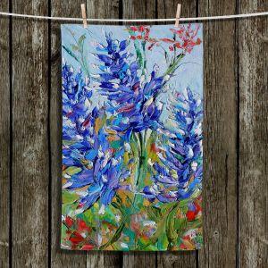Unique Hanging Tea Towels | Karen Tarlton - Blue Bonnets | Flowers Texas