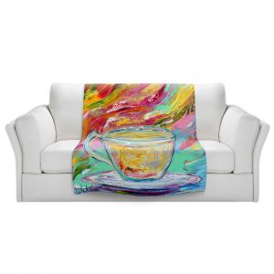 Artistic Sherpa Pile Blankets | Karen Tarlton - Camomille Tea