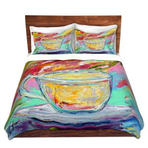 Artistic Duvet Covers and Shams Bedding | Karen Tarlton - Camomille Tea