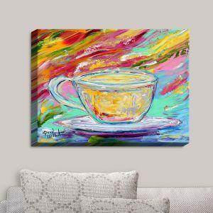 Decorative Canvas Wall Art | Karen Tarlton - Camomille Tea | Tea Cups