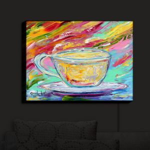 Nightlight Sconce Canvas Light | Karen Tarlton - Camomille Tea | Tea Cups