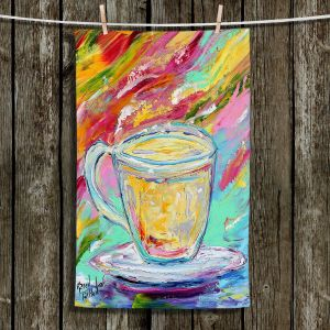 Unique Hanging Tea Towels | Karen Tarlton - Camomille Tea | Tea Cups