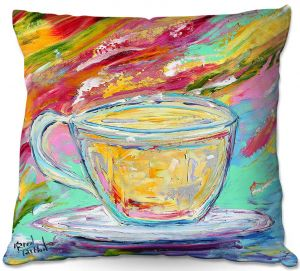Throw Pillows Decorative Artistic | Karen Tarlton - Camomille Tea