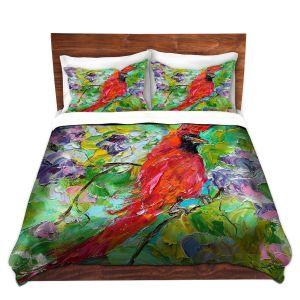 Artistic Duvet Covers and Shams Bedding | Karen Tarlton - Cardinal