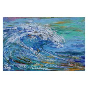 Decorative Floor Covering Mats | Karen Tarlton - Catch a Wave | Beach Ocean Surfing Waves