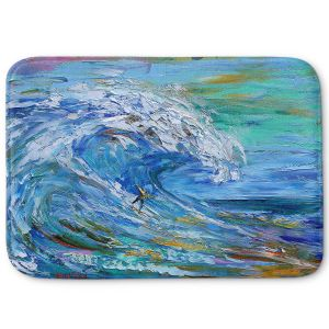 Decorative Bathroom Mats | Karen Tarlton - Catch a Wave | Beach Ocean Surfing Waves
