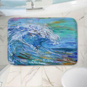 Decorative Bathroom Mats | Karen Tarlton - Catch a Wave | Beach Ocean Surfing Waves