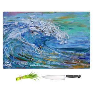 Artistic Kitchen Bar Cutting Boards | Karen Tarlton - Catch a Wave | Beach Ocean Surfing Waves