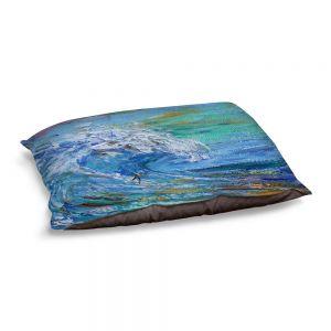 Decorative Dog Pet Beds | Karen Tarlton - Catch a Wave | Beach Ocean Surfing Waves