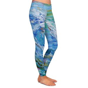 Casual Comfortable Leggings | Karen Tarlton - Catch a Wave | Beach Ocean Surfing Waves