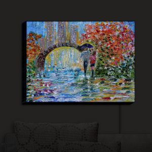 Nightlight Sconce Canvas Light | KarenTarlton - Central Park Autumn | New York City Park