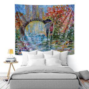 Artistic Wall Tapestry   Karen Tarlton - Central Park Autumn   New York City Park