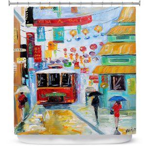 Premium Shower Curtains | Karen Tarlton China Town
