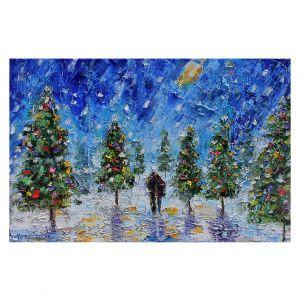 Decorative Floor Covering Mats | Karen Tarlton - Christmas Romance | Christmas Tree Lights