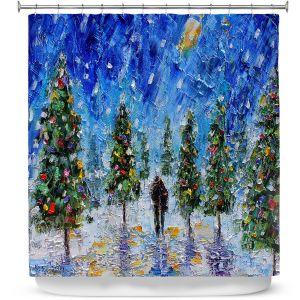 Premium Shower Curtains | Karen Tarlton - Christmas Romance