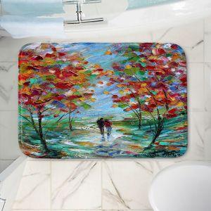 Decorative Bathroom Mats | Karen Tarlton - Colorful Romance | Trees Parks Nature Couple