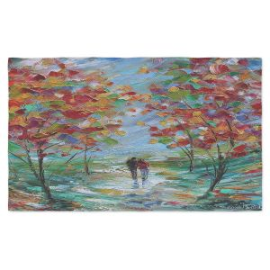 Artistic Pashmina Scarf | Karen Tarlton - Colorful Romance | Trees Parks Nature Couple