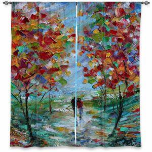 Decorative Window Treatments | Karen Tarlton - Colorful Romance | Trees Parks Nature Couple