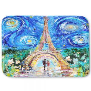 Decorative Bathroom Mats | Karen Tarlton - Eiffel Tower Starry Night