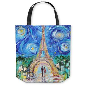 Unique Shoulder Bag Tote Bags |Karen Tarlton - Eiffel Tower Starry Night