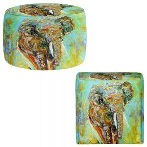 Round and Square Ottoman Foot Stools   Karen Tarlton - Elephant