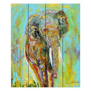 Decorative Wood Plank Wall Art   Karen Tarlton Elephant