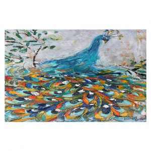 Decorative Floor Coverings | Karen Tarlton - Fabulous Peacock