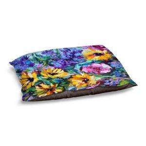 Decorative Dog Pet Beds | Karen Tarlton - Flower Joy | Wildflowers Nature Garden
